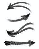 Arrows tire marks Royalty Free Stock Images