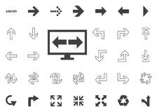 Arrows to the left and right. Arrow  illustration icons set. Arrows to the left and right. Arrow  illustration icons set Royalty Free Stock Photos