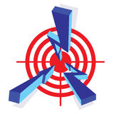 Arrows to target Stock Photography