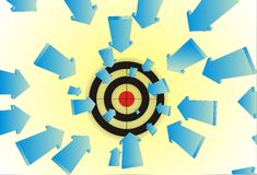 Arrows to target Stock Image