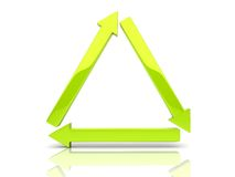 Arrows triangle Royalty Free Stock Images