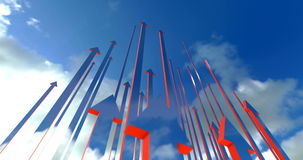 Arrows up stock footage