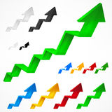 Arrows up on white Stock Images