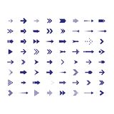 Arrows vector collection with elegant style and black color. 64 arow icons set vector illustration