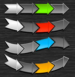Arrows Vector Design. Stylized arrow design with background. You can use the arrows alone on white Royalty Free Stock Photos