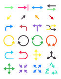 Arrows vector icons set Royalty Free Stock Photography