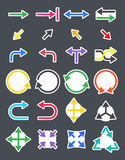 Arrows  vector icons set Royalty Free Stock Image