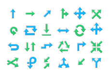 Arrows vector icons set Stock Image