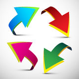 Arrows Vector Illustration. Colorful 3D Arrows Set Isolated on Light Background Royalty Free Stock Photo