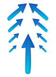 Arrows. Vector illustration representing a suite of arrows Stock Photography