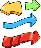 Arrows Vector Illustration Set Stock Images