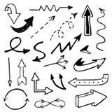 Arrows. Vector set of hand drawn arrows Stock Photos