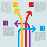 Arrows ways Infographics. Infographic crossed arrows ways vector illustration Stock Image