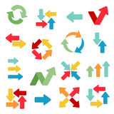 Arrows Web Flat Icons Stock Photography