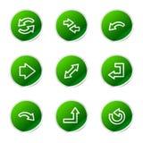 Arrows web icons Royalty Free Stock Photos