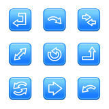 Arrows web icons Royalty Free Stock Image