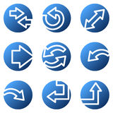 Arrows web icons Stock Photos