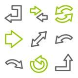 Arrows web icons vector illustration