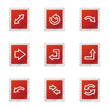 Arrows web icons, red stamp Stock Photography