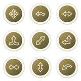 Arrows web icons set 2 Royalty Free Stock Image