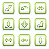 Arrows web icons set 2, square buttons Royalty Free Stock Photos