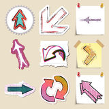 Arrows web icons set. Hand drawn and isolated Stock Images