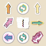 Arrows web icons set. Hand drawn and isolated Stock Photo