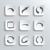 Arrows Web Icons Set Stock Photo