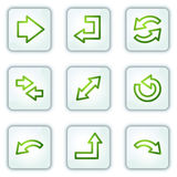 Arrows web icons, white square buttons series Royalty Free Stock Images