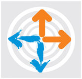 Arrows wiht circle Royalty Free Stock Images