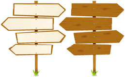 Arrows Wooden Sign Royalty Free Stock Photography