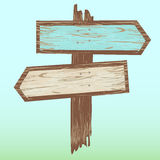 Arrows Wooden Sign. / Illustration of cartoon wood arrows with sign Royalty Free Stock Photos