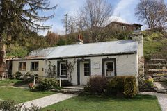 Arrowtown,南岛,新西兰- 9月23,2017 :达德利` s村庄 免版税库存图片