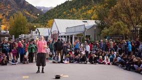 Arrowtown, Νέα Ζηλανδία, από τις 19 ως τις 25 Απριλίου 2018 - φεστιβάλ φθινοπώρου Στοκ Εικόνα