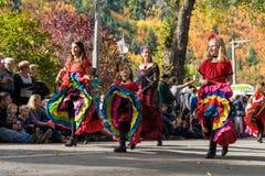 Arrowtown, Νέα Ζηλανδία - 23 Απριλίου 2016 φεστιβάλ φθινοπώρου Στοκ Φωτογραφίες
