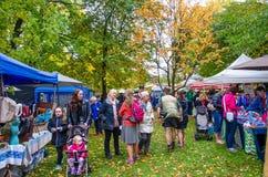 Arrowtown Autumn Festival em Nova Zelândia Imagens de Stock