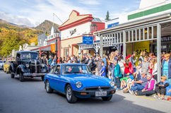Arrowtown Autumn Festival na rua de Buckingham, Arrowtown Imagem de Stock