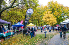 Arrowtown Autumn Festival in New Zealand. Royalty Free Stock Photo