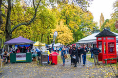 Arrowtown Autumn Festival in New Zealand. Royalty Free Stock Photos