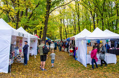 Arrowtown Autumn Festival in Nieuw Zeeland Stock Afbeelding
