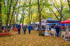 Arrowtown Autumn Festival in Nieuw Zeeland Stock Afbeeldingen