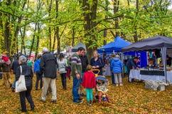 Arrowtown Autumn Festival in Nieuw Zeeland Royalty-vrije Stock Foto's