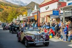 Arrowtown Autumn Festival op Buckingham-Straat, Nieuw Zeeland Stock Foto's