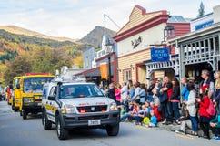 Arrowtown Autumn Festival op Buckingham-Straat, Nieuw Zeeland Royalty-vrije Stock Foto's