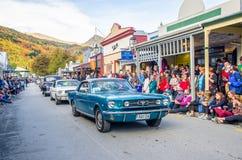 Arrowtown Autumn Festival op Buckingham-Straat, Nieuw Zeeland Stock Afbeeldingen