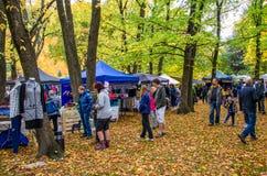 Arrowtown Autumn Festival sur la rue de Buckingham Photographie stock