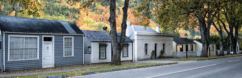 Arrowtown Cottages, Otago, New Zealand Royalty Free Stock Image