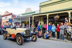 Arrowtown jesieni festiwal na Buckingham ulicie, Nowa Zelandia Zdjęcie Royalty Free