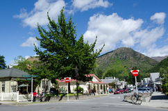 Arrowtown - New Zealand. ARROWTOWN,NZ - JAN 17:Arrowtown on Jan 17 2014.It's a popular travel destination with well preserved buildings used by European and royalty free stock photo