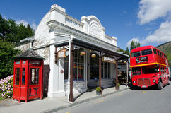 Arrowtown - New Zealand. ARROWTOWN,NZ - JAN 17:Arrowtown on Jan 17 2014.It's a popular travel destination with well preserved buildings used by European and royalty free stock photos